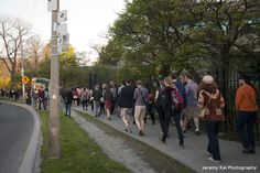 """Jane's Walk 2013: Toronto, Ontario, Canada - """"Ghost Tour of the University of Toronto"""" - Guided by Richard Fiennes-Clinton - Photo by Jeremy Kai - http://www.janeswalk.net/"""