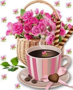 Solve kávička jigsaw puzzle online with 63 pieces Flowers Gif, Beautiful Rose Flowers, Coffee Heart, Coffee Love, Dress Design Drawing, Cute Cartoon Girl, Good Morning Coffee, Cafe Food, Good Morning Flowers
