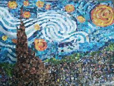 Art Projects for Kids: Starry Night Collage