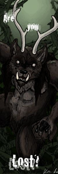The Beast- Bookmark by Druid-Ulises