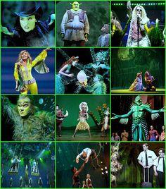 Wicked, Shrek, Hair, Mamma Mia, The Little Mermaid, Tarzan, The Lion King, Spiderman: Turn Off Dark, Matilda, Pippin, The Book of Mormon