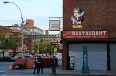 Invader in New York, USA #bestofstreetart #graffiti #urbanart #graffitiart #originalstreetart #freewalls #streetart #invader #newyork