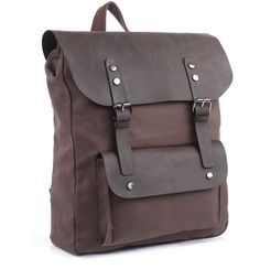 "* Main Material: Made from durable, sturdy Canvas and Genuine Leather. * Size: H:16"", L:12.50"", W: 5.5"" * Interior: Cell Phone Pocket, Interior Zipper Pocket, Exterior Big Pocket. * Exterior: Solid Ba"