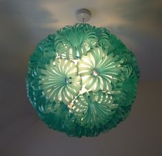 Cola 30  Plastic Bottle Ceiling Light by SarahTurnerEcoDesign