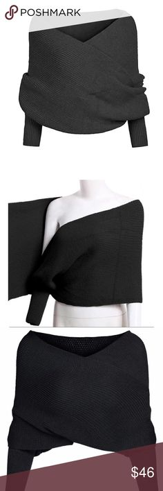 NEW! Wrap Sweater - also, scarf with sleeves New from our boutique. Never been worn. Can be worn as a sweater and also a scarf. No closure. 3/4 sleeves. Knitted. Also available in gray under a separate listing. Haus of Layers Accessories Scarves & Wraps