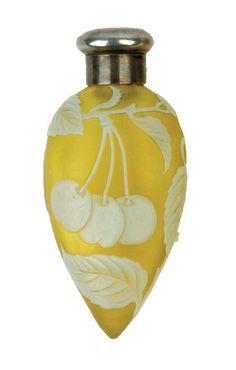 A Victorian Thomas Webb cameo glass perfume bottle hallmarked London 1885 by Sampson Mordan.