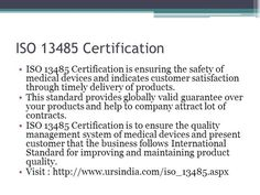 URS offers #ISO13485Certification in all cities, India.