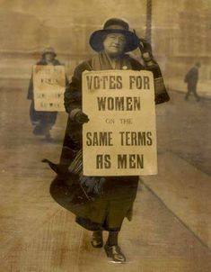 Suffragettes- women went to jail, faced angry families and husband.... So that we could have the same voting rights as men.