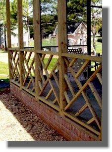 Deck Railing -  Chippendale Pattern