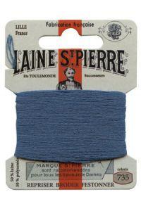 Carte Laine Saint-Pierre pour broder / repriser n°735 Email