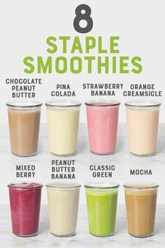 Welcome to Smoothie Learn my tips and tricks for making smoothies, plus get 8 of my favorite smoothie recipes all in one place. healthy drinks 8 Staple Smoothies You Should Know How to Make Smoothies Vegan, Fruit Smoothie Recipes, Easy Smoothies, Smoothie Drinks, Smoothie Diet, Chocolate Smoothie Recipes, Coconut Milk Smoothie, Delicious Smoothie Recipes, Vegetable Smoothie Recipes