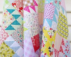 A Scrap Quilt and Bear Paw Block Tutorial | Red Pepper Quilts