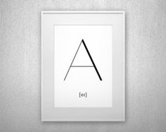 Typography Art Print Y Letter poster Printable by LettersForAll
