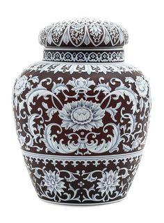 Superb Thomas Webb & Sons cameo jar, Hindman's lot #25
