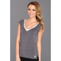 taurus satin pajamas -  Calvin Klein Underwear Essentials w/ Satin Trim Cap Sleeve PJ Top (Medium Charcoal) Women's Pajama