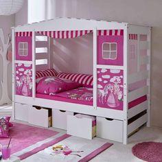 Zoomie Kids Bett Joni mit Vorhang, 90 x 200 cm Kidsroom, Daybed, Bunk Beds, Toddler Bed, Furniture, Home Decor, Kiefer, Products, Bedroom Ideas
