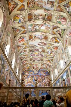 Michaelangelo's Sistine Chapel ceiling masterpiece at the Vatican in Vatican City