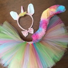 Rainbow Unicorn Tutu Costume. Halloween Costume by TutuPlace