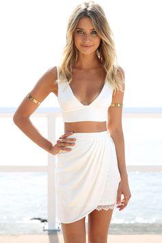 Sabo Skirt Havana Ivory Skirt $48