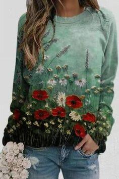 INS8 Image Bleu, Long Sleeve Tops, Long Sleeve Shirts, Bleu Violet, Gris Rose, Floral Sleeve, Legging, Online Shopping Clothes, Womens Fashion