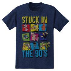 6ab76b4e Men's Cartoon Network Stuck In The 90's Graphic T-Shirt - Heathered Deep  Navy S