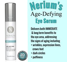 #Nerium NEW Age Defying #Eye Serum! It has just 2 active ingredients that allow for IMMEDIATE and long term results for the following: PH is same as your body; so won't cause damage like competitors brands.    Dark circles Puffiness Fine lines under the eye Crow's feet Clarity/brightness Firmness  ONLY product on the market this! $60  ORDER TODAY!   Click on picture & it takes you directly to my page. Comment for questions.   #eyecream #eyes #antiaging #beauty #allnatural