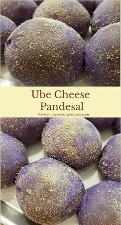 Super soft homemade Filipino Ube Bread with cheese filling. Soft Pandesal Recipe, Cheese Pandesal Recipe, Ensaymada Recipe, Ube Mamon Recipe, Ube Halaya Recipe, Pinoy Dessert, Filipino Desserts, Filipino Food, Easy Filipino Recipes