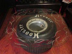 Hoosier tire + glass top = DIY table