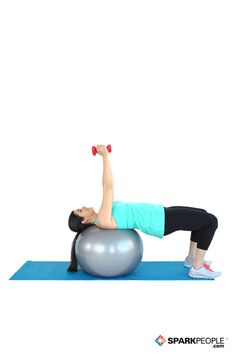 Today's Exercise: Dumbbell Triceps Extensions on Ball