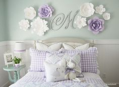 Little girls purple & turquoise room Home by Heidi