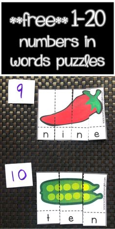 number words - one to twenty - a fun and interesting activity for kids to practice numbers in words and learn their spelling. Kindergarten Age, Preschool Math, Kindergarten Activities, Teaching Math, Sight Word Activities, Language Activities, Hands On Activities, One To Twenty Spelling, Writing Words