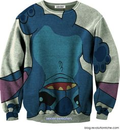 Stitch / Lilo & Stitch I know it looks a bit grandma-ish......BUT I'D ROCK IT!!!