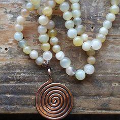 Sacred Spiral, spiral prayer beads, spiral mala, goddess prayer beads, goddess mala, sacred prayer beads, sacred mala, spiral prayer beads by MagickAlive on Etsy