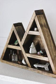 DIY mountain jewelry shelf via Poppytalk