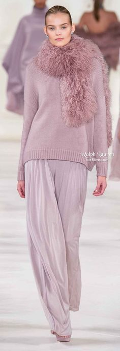 casual style taken up a few levels --Ralph Lauren Fall 2014: sumptuous colors, fabrics and styles - love!