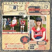 A Project by LAuclair from our Scrapbooking Gallery originally submitted 08/24/12 at 07:28 AM Like the use of 2 4X6's with differing orientations