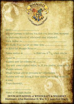 A5 Enfants Fête Invitations x 12-Harry Potter serpentard Portrait invite