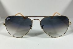Ray Ban RB3025 001/3F Blue Gradient Aviator Arista Gold Frame Sunglasses 58mm