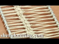 Crochet On Hairpin Loom Tutorial 17 Hairpin Lace Strip - YouTube