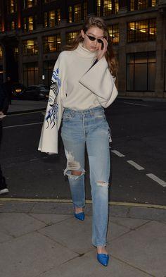 Gigi Hadid Body, Gigi Hadid Style, Casual Hijab Outfit, Cute Casual Outfits, Celebrity Outfits, Celebrity Style, Gigi Hadid Outfits, Streetwear Fashion, Casual Looks