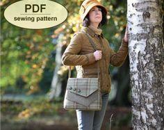 New: Sewing pattern to make the Brancaster Messenger Bag  PDF