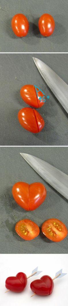 Heart shaped tomatoes