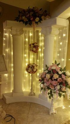 Backdrop lights- wedding decor