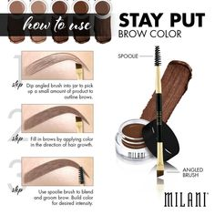 Milani stay put brow color is a must eyebrows 8 Makeup Products for Any Budget makeup beauty Eyebrow Makeup, Skin Makeup, Beauty Makeup, Eyebrow Brush, Makeup Eyebrows, Eyebrow Pencil, Makeup Brushes, Brow Tutorial, Milani Cosmetics
