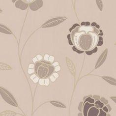 Superfresco Easy Mocha/Gold Charming Wallpaper- at Debenhams Mobile