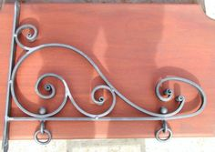 Wrought-Iron-Scroll-Sign-Bracket-Hand-Forged-Blacksmiths-in-the-U-S-A