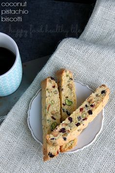 Coconut Pistachio Biscotti and How I'm Getting Healthy with Pistachios