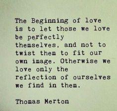 The beginning of love