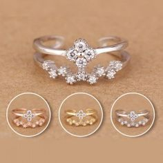 Hot Selling Adjustable 925 Sterling Silver Tail Ring