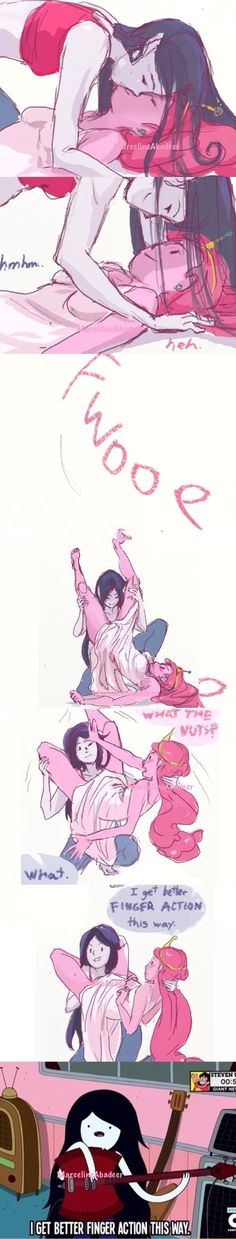 Really cute and the clip from the show adds some humor to the intimate moment. Bubbline fan art.